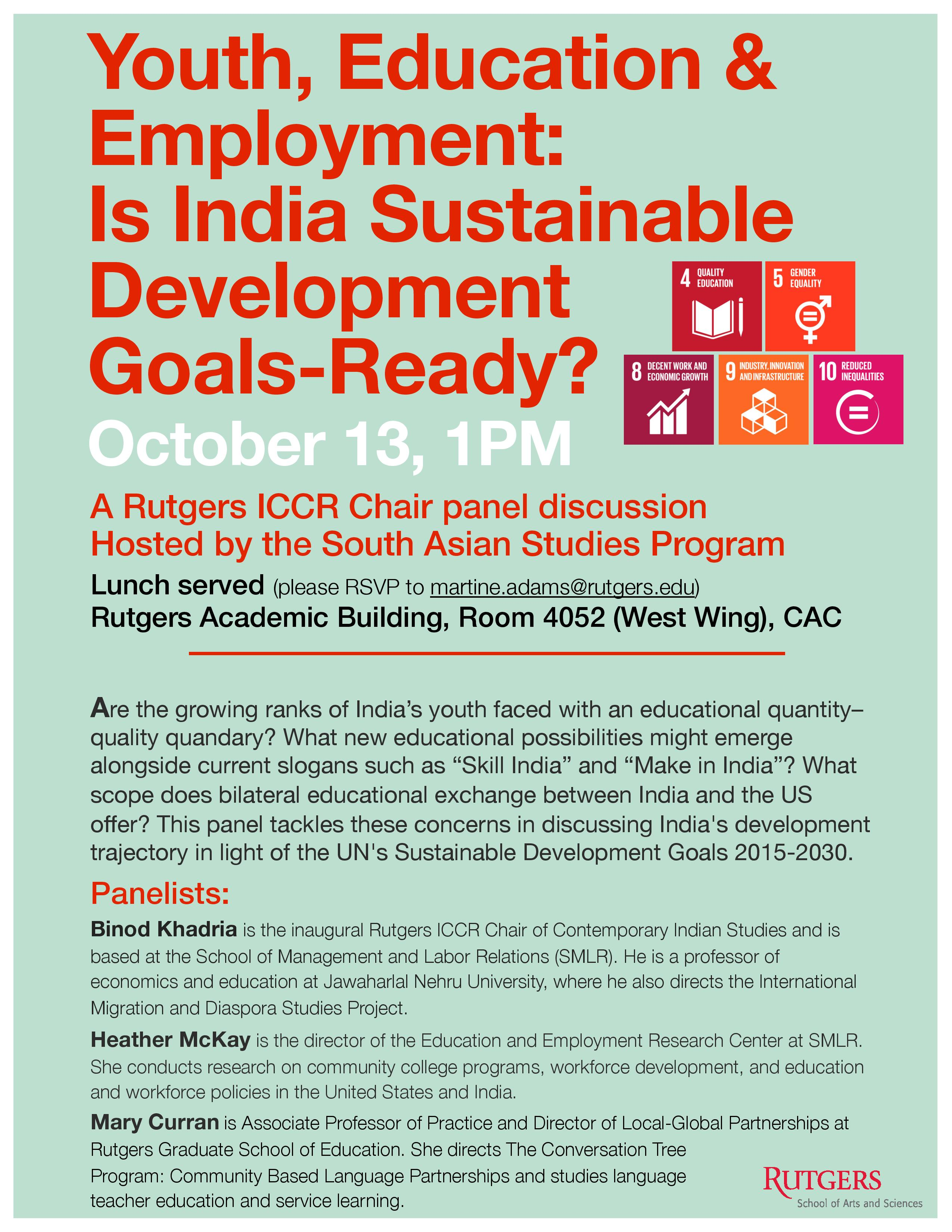 ICCR Chair Panel Event Oct 13 SASP
