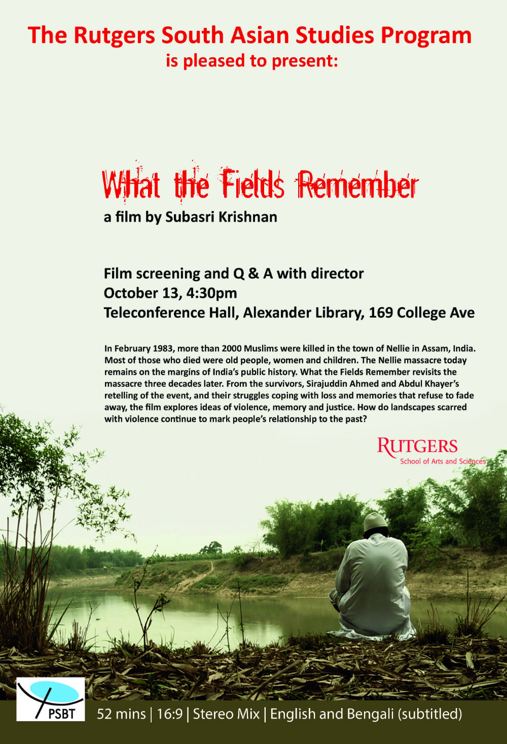 What The Fields Remember Poster Oct 13